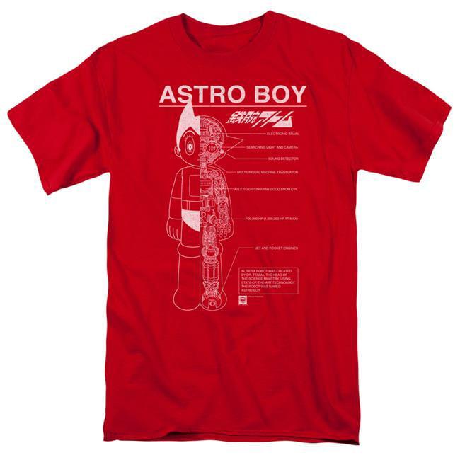 Astro Boy Schematics-S by S Adult Short Sleeve Shirt, Red - 4X - image 1 de 1