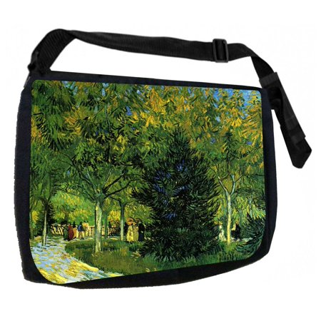 Artist Vincent Van Gogh's Avenue in the Park Black Laptop Shoulder Messenger Bag