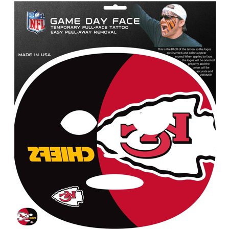 NFL Kansas City Chiefs Game Day Face Temporary Tattoo (Tattoos Games)