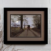 Ohio Wholesale Lighted Matted Heading Home by Billy Jacobs Framed Photographic Print