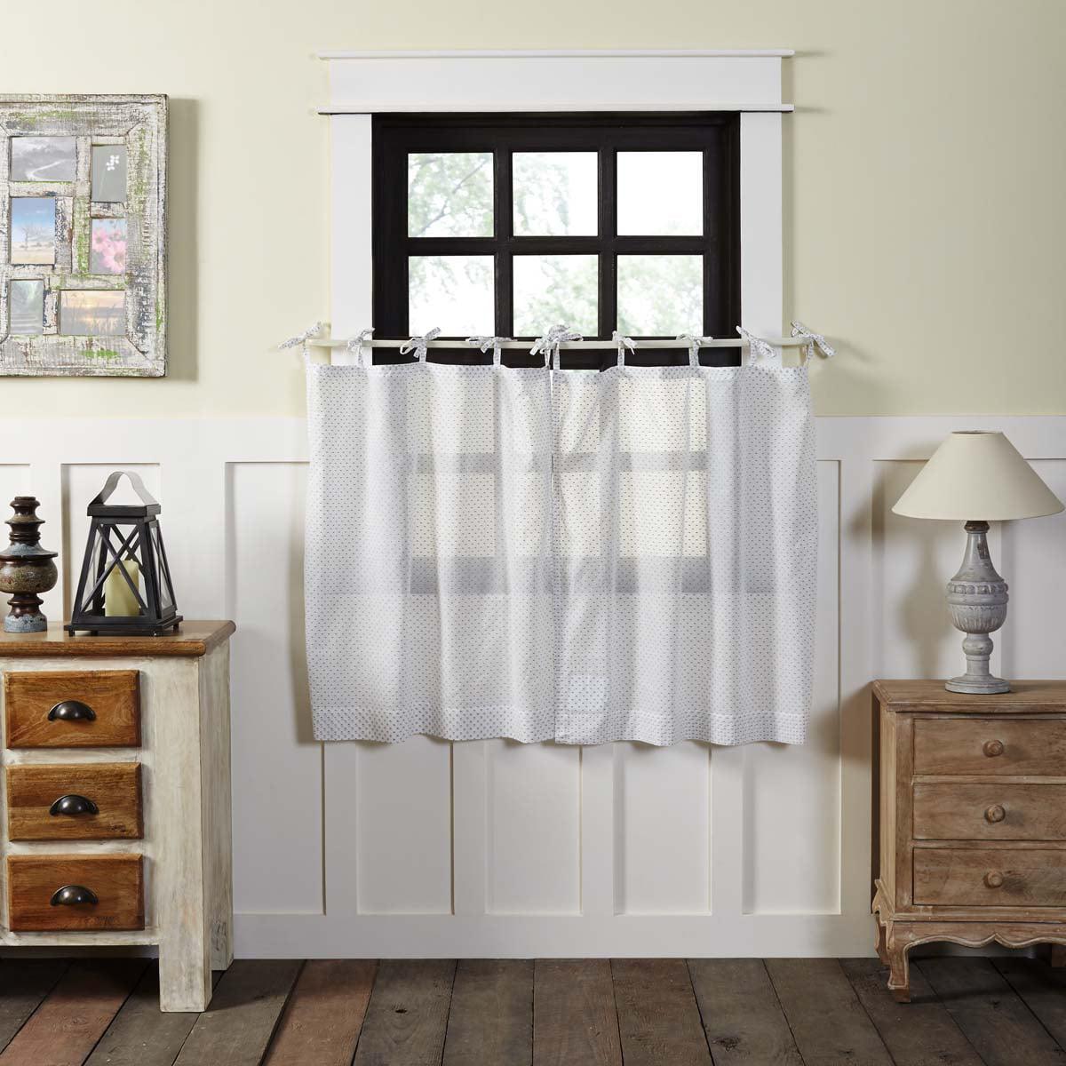 white farmhouse kitchen curtains nora tie top cotton sheer