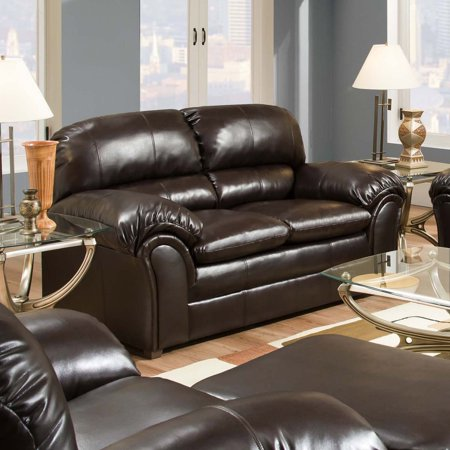 Custom Leather Upholstery - Simmons Upholstery Vintage Riverside Bonded Leather Loveseat