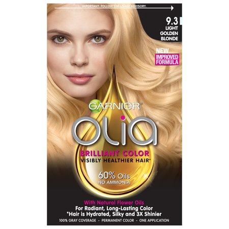 Garnier Olia Oil Powered Permanent Hair Color, 9.3 Light Blonde