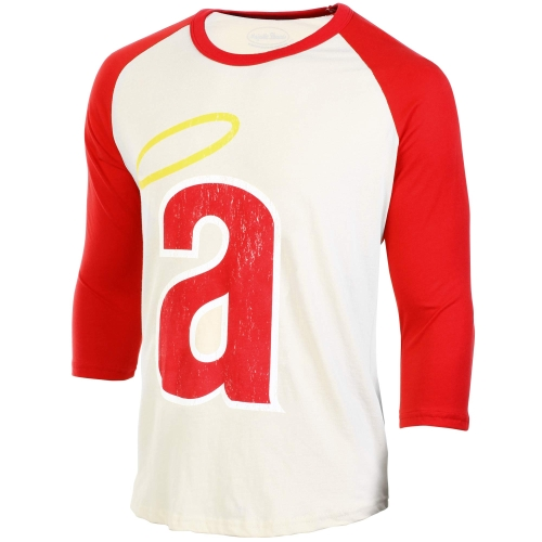 Los Angeles Angels Majestic Threads Washed Old Raglan T-Shirt - Cream