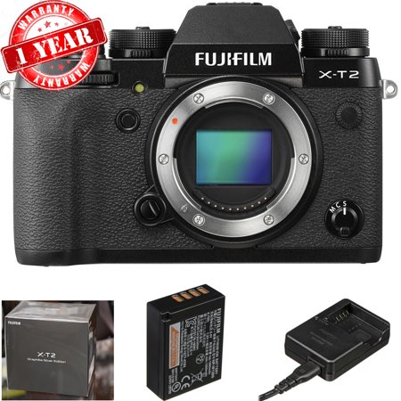 Fujifilm X-T2 Mirrorless Digital Camera (Body Only)- Black USA