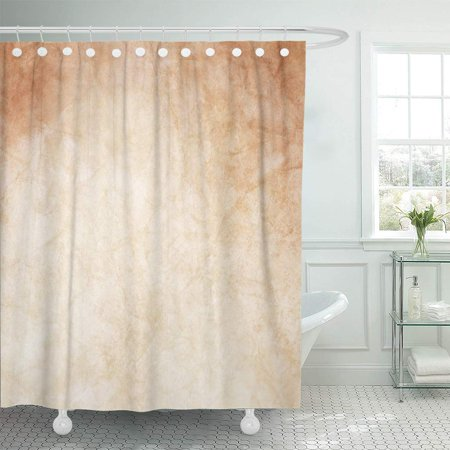 KSADK Gold White and Brown Design with Watercolor Classy Bronze Solid Elegant Shiny Shower Curtain Bathroom Curtain 60x72 inch