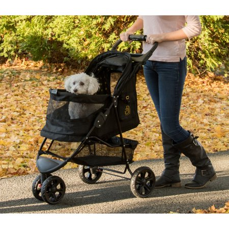 Pet Gear No-Zip Special Edition Pet Stroller with Gold