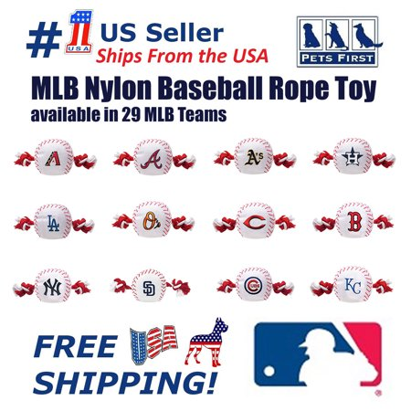 Pets First MLB Chicago White Sox Nylon Baseball Rope Tug Toy, MLB Licensed, Heavy Duty and Durable