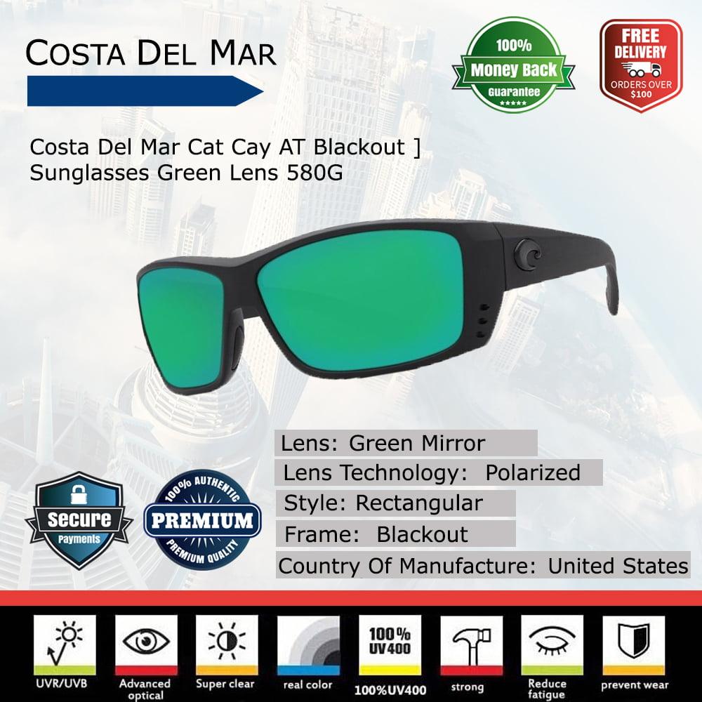 e1aab3dd17f Costa Del Mar Cat Cay AT Blackout Sunglasses - Walmart.com