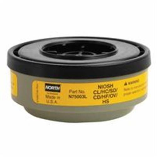 North Safety 068-N75003L Acid Gas Cartridge For N Series, Yellow