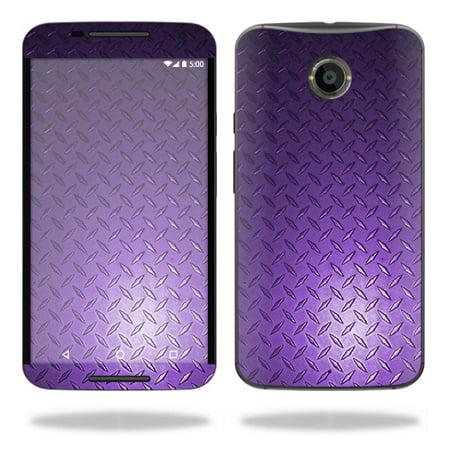 Skin Decal Wrap For Motorola Google Nexus 6 Sticker Cover Skins Purple Diamnd Pl