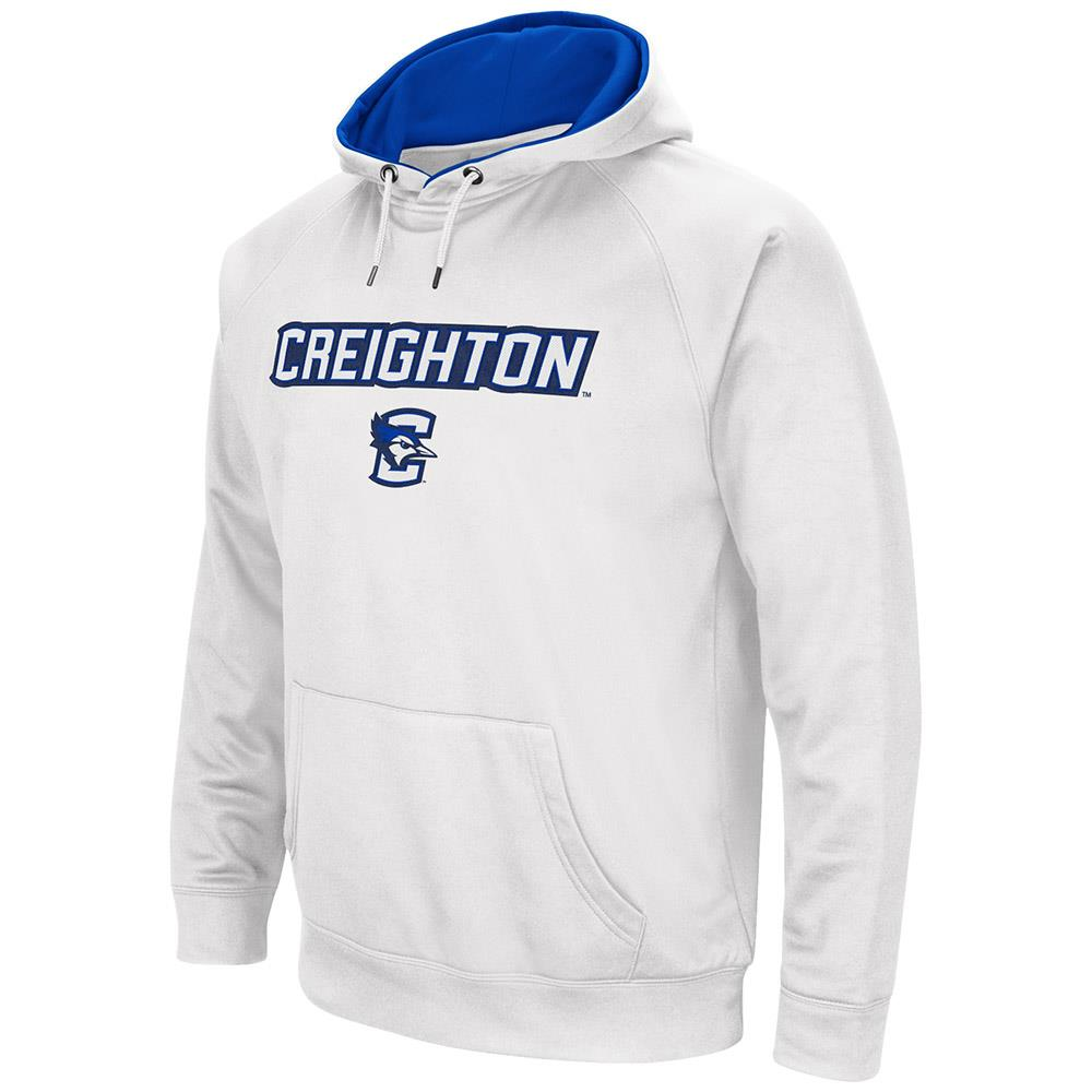Mens NCAA Creighton Bluejays Fleece Pull-over Hoodie by Colosseum