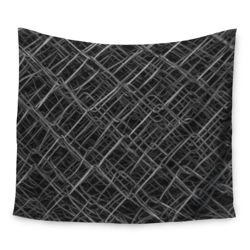 East Urban Home Photography 'Urban Metal Links' by Nick Nareshni Wall Tapestry