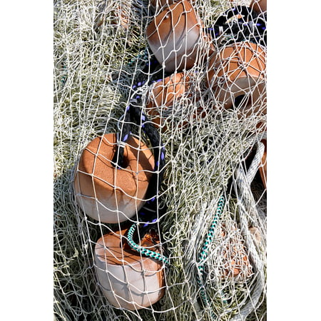 Canvas Print Mesh Net Closeup Nautical Coast Decoration Stretched Canvas 10 x 14