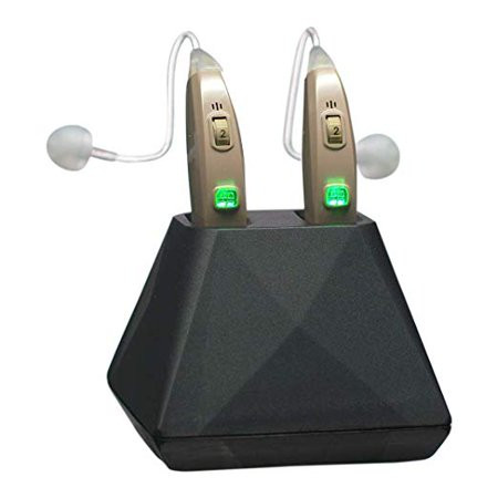 Hearing Assist HA-302 Rechargeable BTE Hearing Aid for Both Ears, FDA Registered,