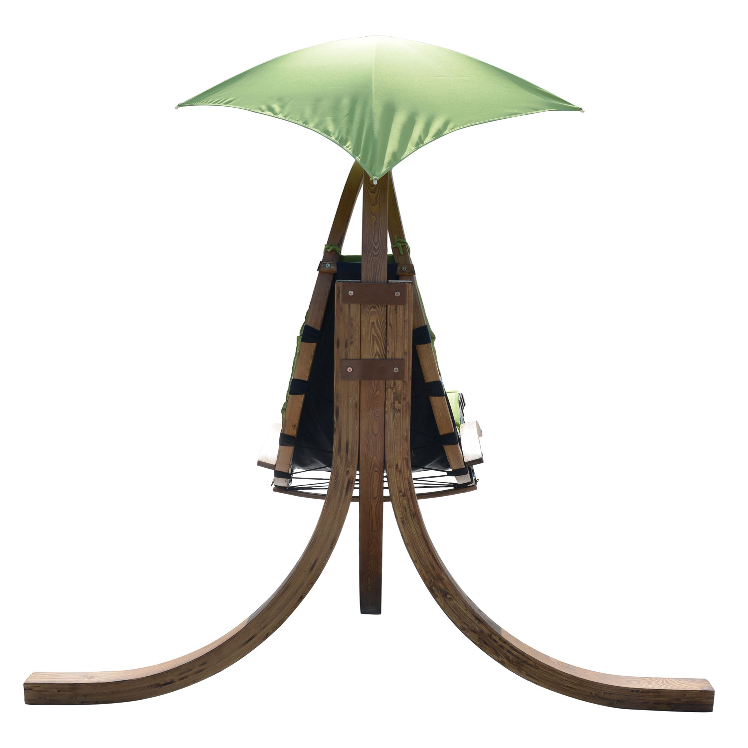 Outsunny Outdoor Hanging Sky Swing Chair w Stand Green