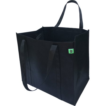 Reusable Grocery Bags 5 Pack Black Hold 40 Lbs