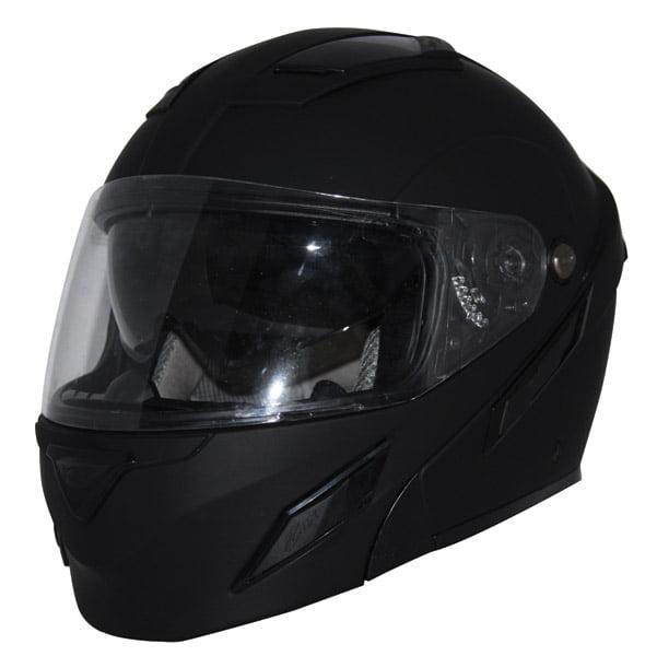 Zox Unisex Adult  Brigade SVS Matte Black Modular Helmet Z88-30718