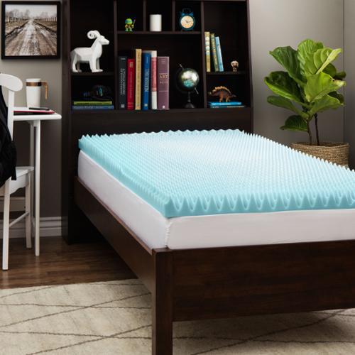 Slumber Solutions Dorm 3 Inch Textured Gel Memory Foam
