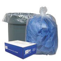 Classic Clear Linear Clear Low-Density Can Liners, 56 gal, 100 ct