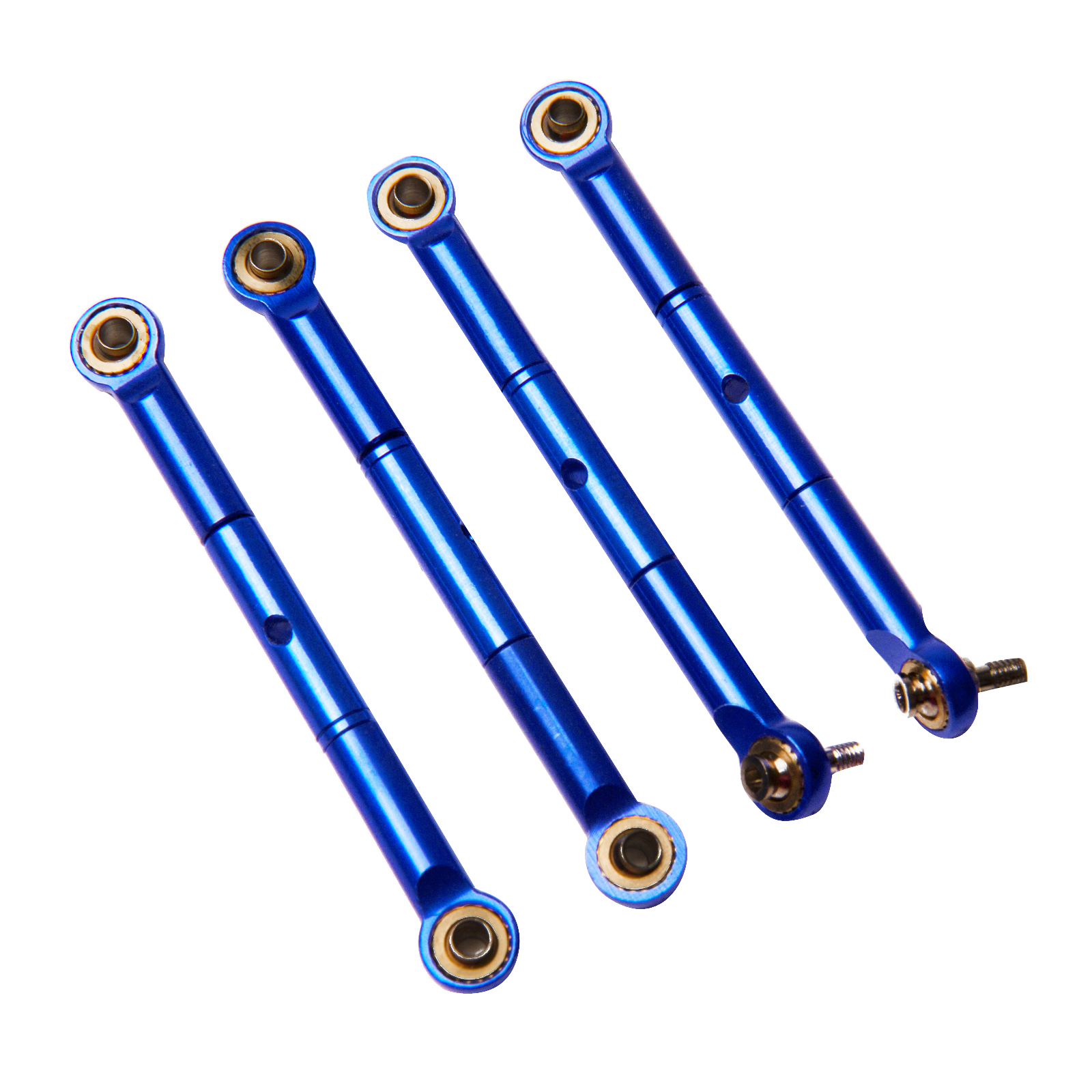 Traxxas Rally 1:16 Aluminum Alloy Front/Rear Adjustable Toe Link Hop Up Upgrade, Blue by Atomik RC - Replaces Traxxas Part 7038