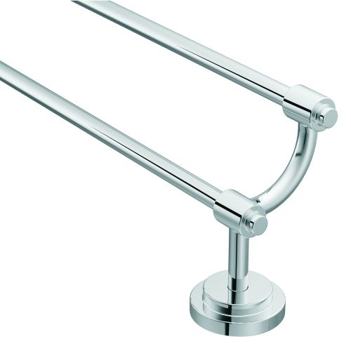 "Moen DN0722 24"" Double Towel Bar from the Iso Collection"