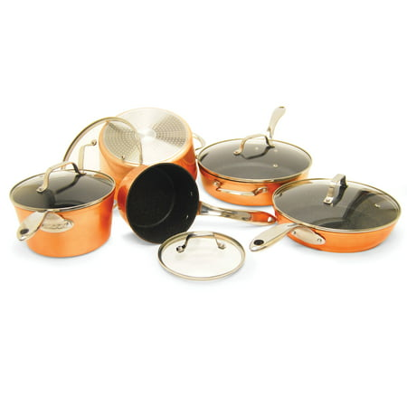 THE ROCK by Starfrit 030910-001-Star 10 Piece Copper Cookware Set