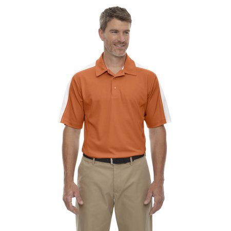 A Product of Ash City - Extreme Men's Eperformance™ Piqué Colorblock Polo - HIBISCUS/ WH 606 - L [Saving and Discount on bulk, Code - Party City Discount Code