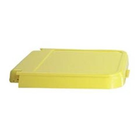 R&B Wire 602Y ABS Crack Resistant Replacement Laundry Hamper Lid - Yellow ()
