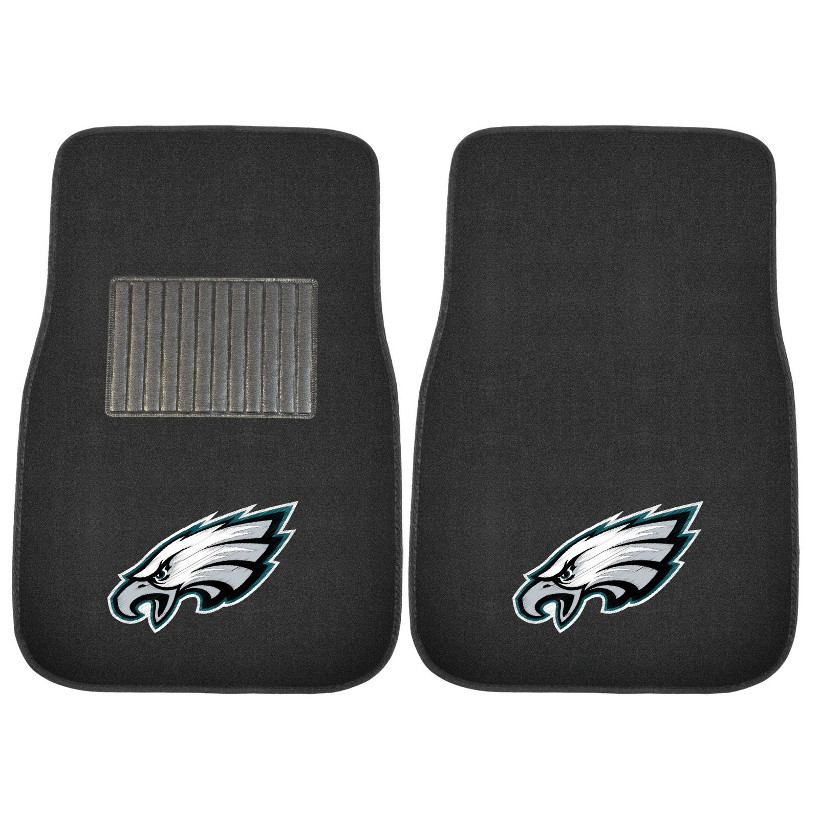 Fan Mats NFL Football Embroidered Car Mat - Set of 2