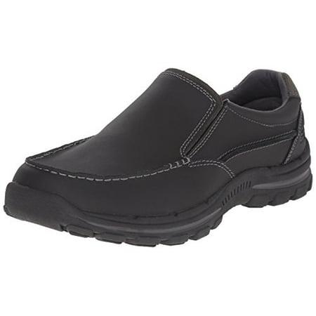 USA Men's Braver Rayland Slip-On Loafer, Black Leather, 7 2E