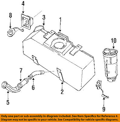 Dodge Chrysler Oem 87 96 Dakota Fuel System Pocket 4279778