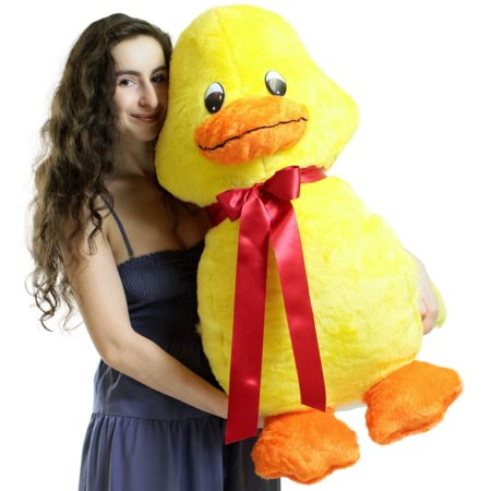 American Made Giant Stuffed Yellow Duck 36 Inches Soft 3 Foot Plush Animal ()