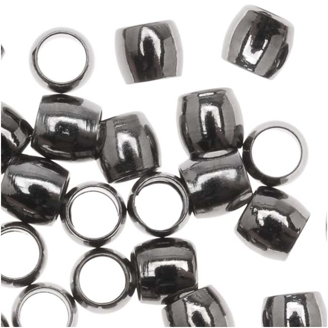 Gunmetal Plated Crimp Beads 2.5mm x 3mm (50 Beads)