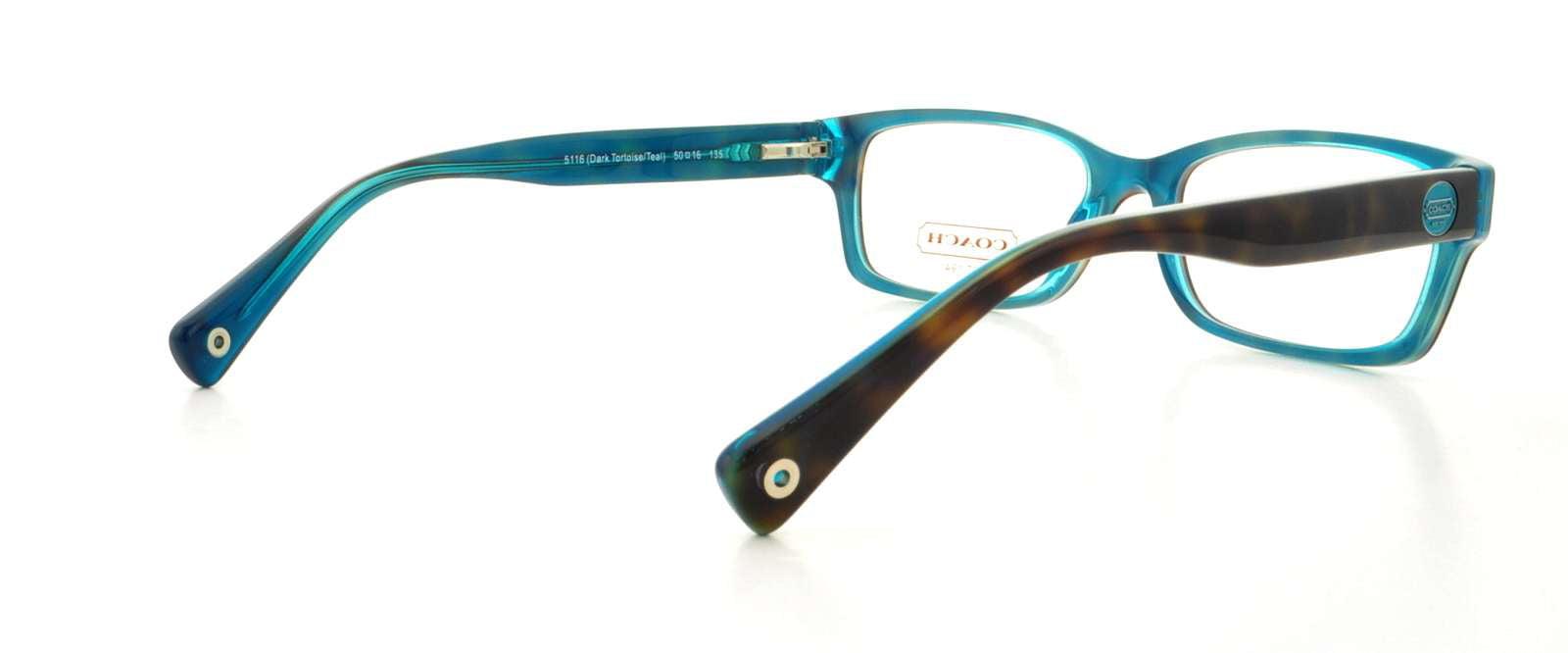 63046efe5beb COACH Eyeglasses HC 6040 5116 Tortoise Teal 52MM - Walmart.com
