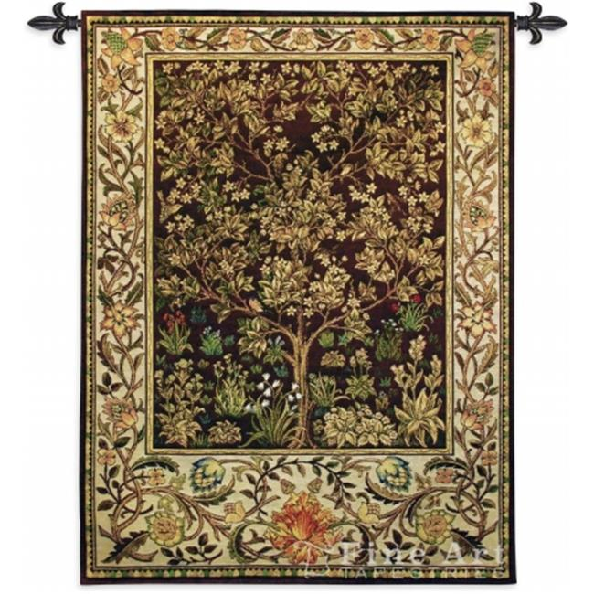 FineArtTapestries 3449-WH Tree of Life Umber Wall Tapestry