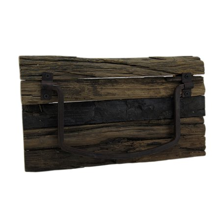 Horse Wood Rack - Rustic Weathered Wood and Metal Wall Mounted Towel Holder