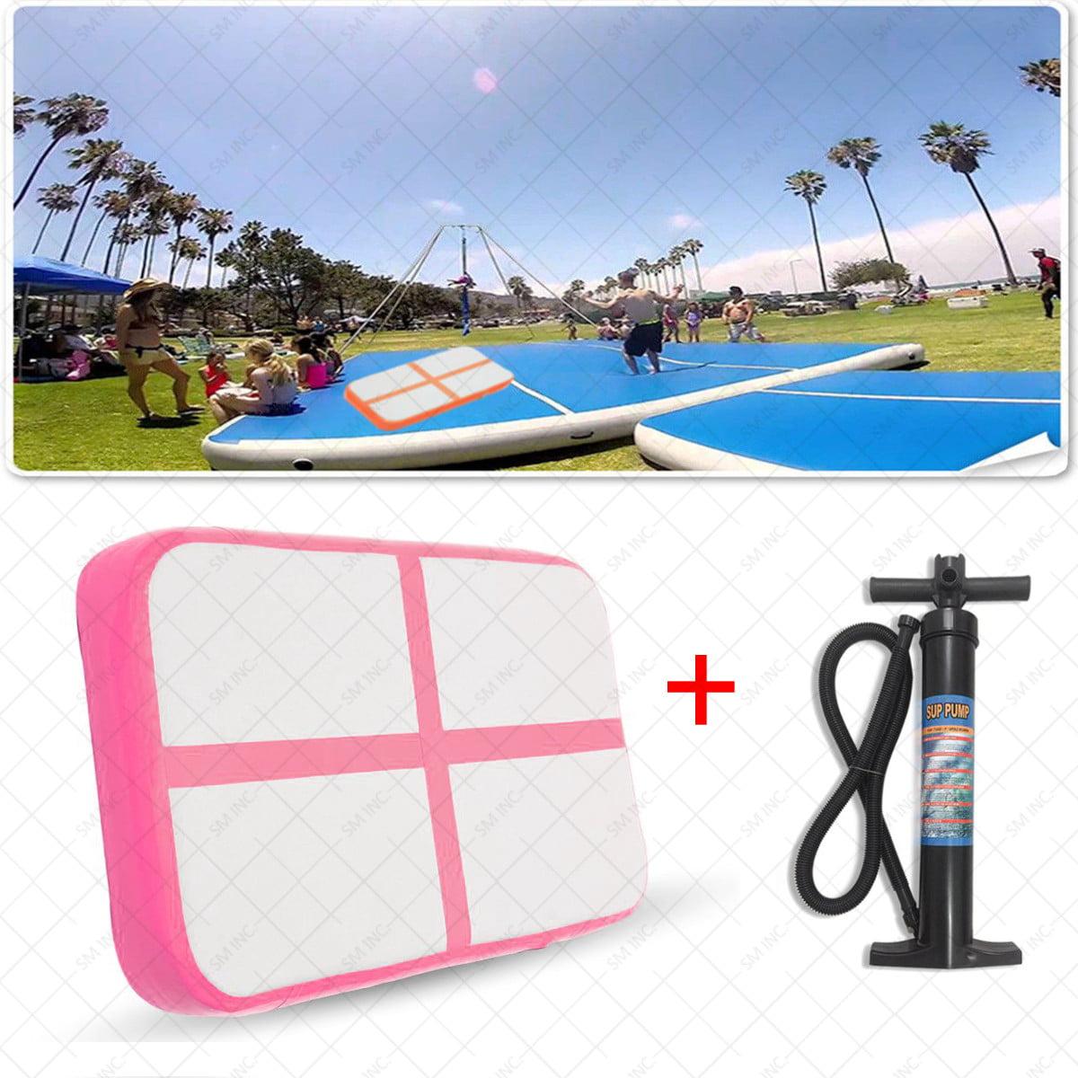 1Pcs 100x60x10cm Inflatable Gymnastics Cheerleading Air Track Floor Tumbling Gym Mat + Hand Pump by