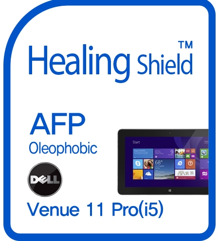 Healingshield Screen Protector Oleophobic AFP Clear Film for Dell Tablet Venue 11 Pro (i5) [Front 1pc]