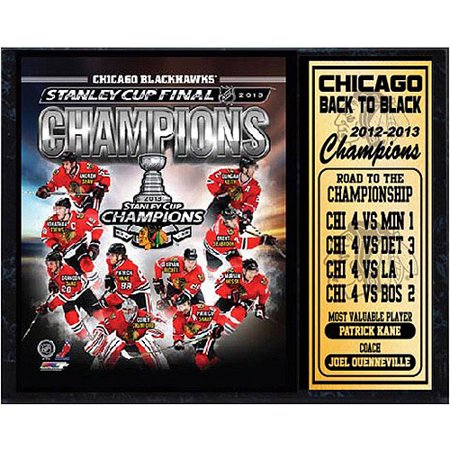 NHL Chicago Blackhawks Stat Plaque, 12x15 Chicago Blackhawks Street Sign