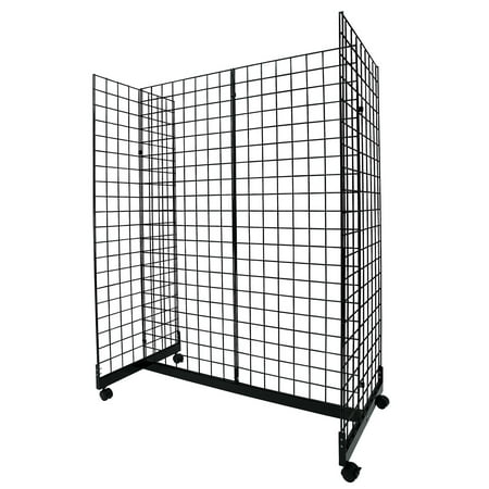 (Black Grid Gondola Unit - Includes Base and Casters - Grid Unit 48