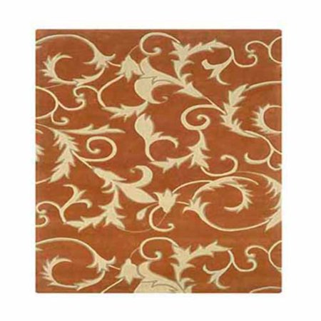 Linon Trio with a Twist Area Rug - Pumpkin / Ivory](Pumpkin Pattern)