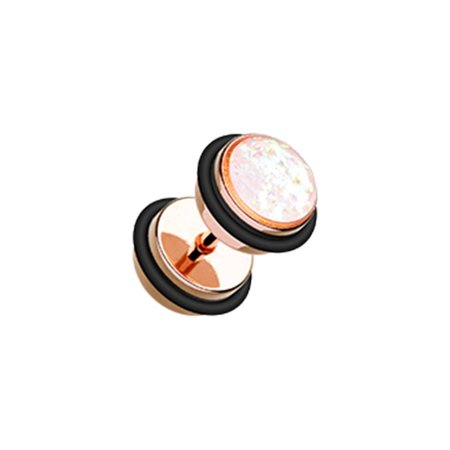 Glitter Opal Metallic Coat Acrylic Fake Plug with O-Rings