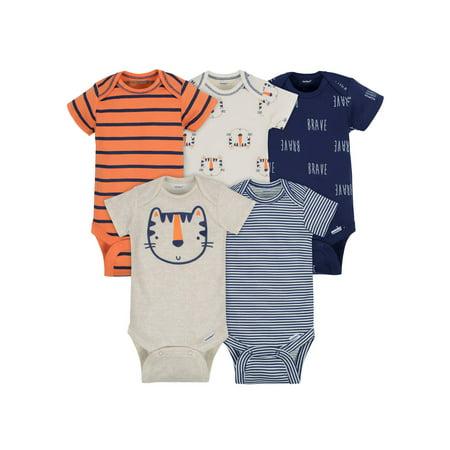 Plus Size Onesies For Men (Assorted Short Sleeve Onesies Bodysuits, 5pk (Baby)