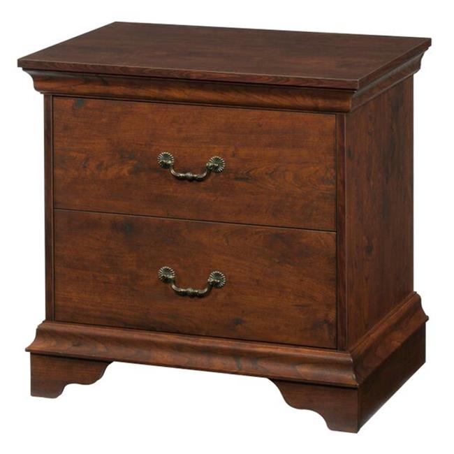 Enitial Lab YNJ-1418-6 Bosco 2-Drawer Nightstand, Vintage Walnut