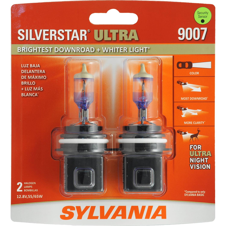 SYLVANIA 9007 SilverStar ULTRA Halogen Headlight Bulb, Pack of 2