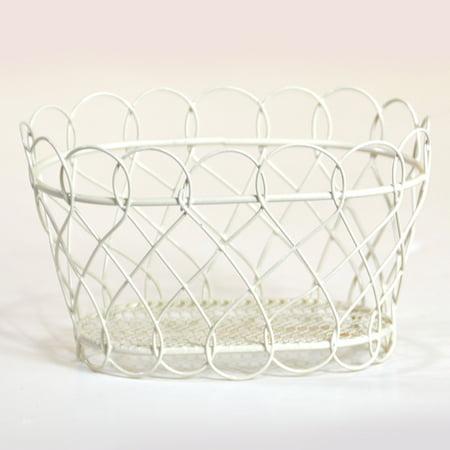 Stella Mini Oblong Basket with Scalloped Edge - Cream