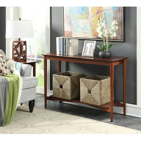 Mahogany Center Table - Convenience Concepts Savannah Mid Century Console Table