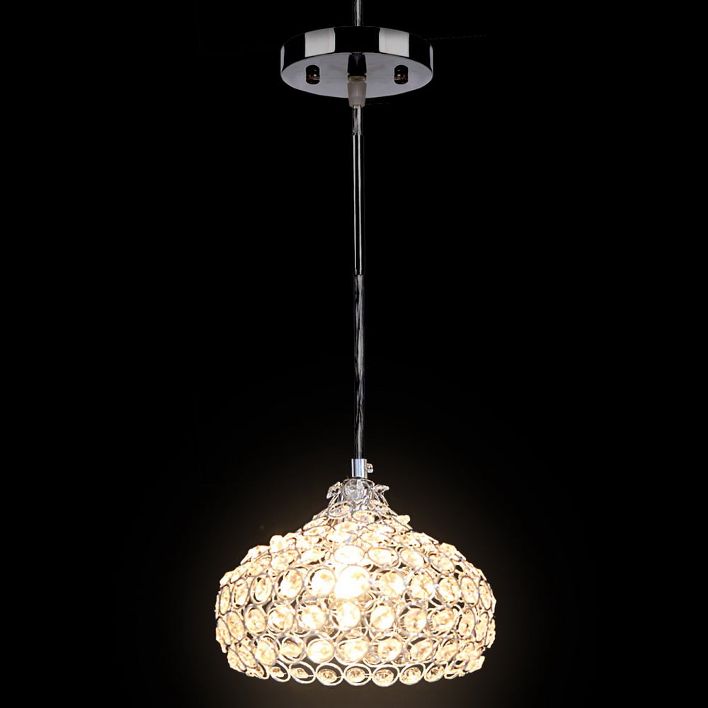 E12 Light Crystal Mini Chandeliers ,Silver Pendant Light by