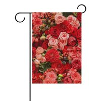 POPCreation Abstract Background Of Roses Polyester Garden Flag Outdoor Flag Home Party Garden Decor 28x40 inches